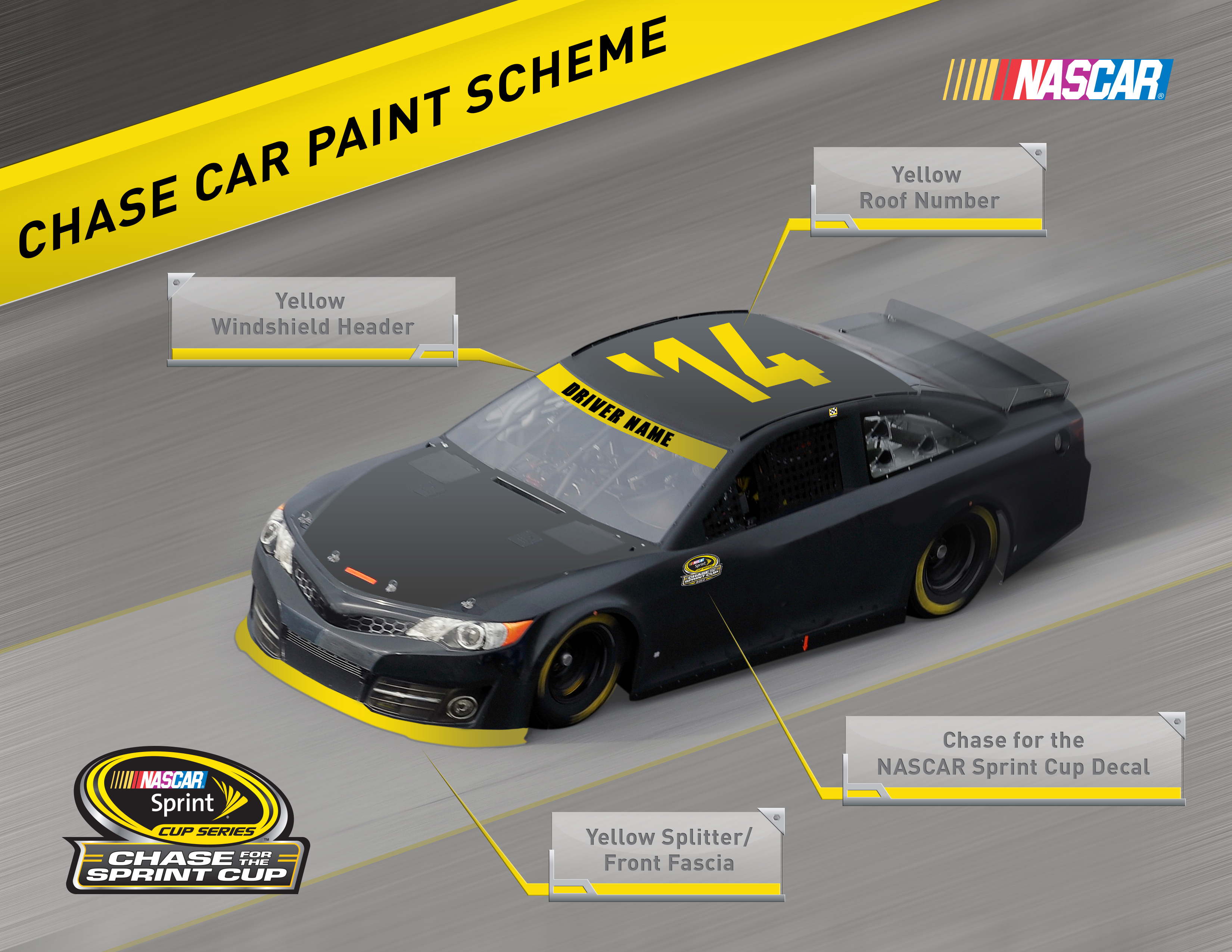 nascar introduces special paint scheme elements for chase